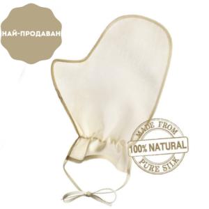 Ексфолираща копринена ръкавица Raya