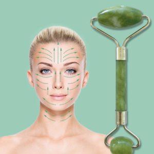 Нефритен ролер за масаж на лице – Jade roller