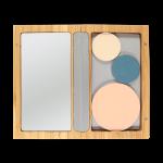 Малка магнитна бамбукова кутия за сенки и пудри с огледало ZAO 1