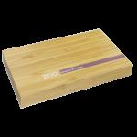 Малка магнитна бамбукова кутия за сенки и пудри с огледало ZAO 2