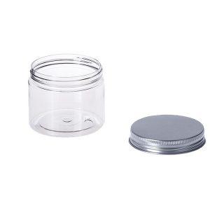 Стъклен буркан за крем с алуминиева капачка - 150 мл