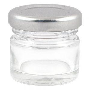 Стъклено бурканче за козметика - 25 мл.