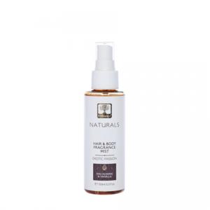 """ПАРФЮМ ЗА КОСА И ТЯЛО """"ЕКЗОТИЧНА СТРАСТ"""", BIOSELECT 100 ml С органично маслиново масло, макадамия, ванилия и кокос Изключителен съживяващ аромат, който успокоява вашите сетива. Той съдържа натурално масло от макадамия и екстракт от естествена ванилия, които глезят косата и кожата ви. Начин на употреба: Напръскайте върху тялото или косата и повтаряйте при нужда през деня. 98,1 % НАТУРАЛНИ СЪСТАВКИ БЕЗ СИЛИКОНИ БЕЗ МИНЕРАЛНИ МАСЛА БЕЗ ПЕТРОЛНИ ПРОДУКТИ БЕЗ ДЕРИВАТИ БЕЗ PEG, SLS, SLES БЕЗ СИНТЕТИЧНИ ОЦВЕТИТЕЛИ БЕЗ ПАРАБЕНИ Състав: ALCOHOL DENAT., AQUA, PARFUM, PEG-40 HYDROGENATED CASTOR OIL, GLYCERIN, PROPANEDIOL, MACADAMIA TERNIFOLIA SEED OIL, VANILLA PLANIFOLIA FLOWER EXTRACT, SODIUM BENZOATE, CITRIC ACID, POTASSIUM SORBATE, CINNAMYL ALCOHOL, HYDROXYCITRONELLAL, BENZYL SALICYLATE, COUMARIN, GERANIOL, LINALOOL, BENZYL BENZOATE, CITRONELLOL, LIMONENE, ALPHA-ISOMETHYL IONONE Произведено в: Гърция BIOSELECT NATURALS - 100 ml"""