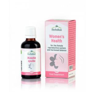 Женска хармонизираща смес от билки при акне, хормонални неразположения