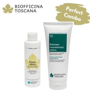 Деликатен шампоан + Активен балсам за коса - Biofficina Toscana