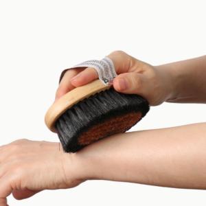 Четка за сухо четкане с конски косъм и мед - Naturae Donum