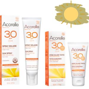 Био слънцезащитен спрей водоустойчив и антиоксидантен SPF30 - Acorelle