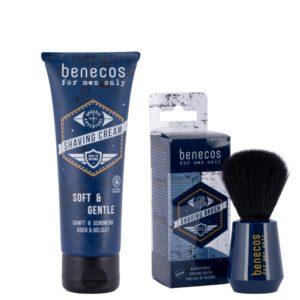 Мъжки сет - четка за брада и крем за бръснене