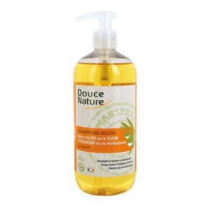 Шампоан и Душ-гел с портокалов цвят и марсилски сапун - Douce Nature - 500 мл.