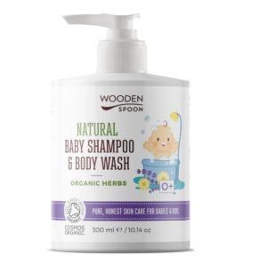 бебешкият натурален шампоан за коса и тяло