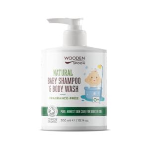 натурален бебешки шампоан за коса и тяло без аромат