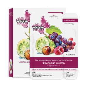 2в1 Шийт маска + крем с плодови киселини - DIZAO