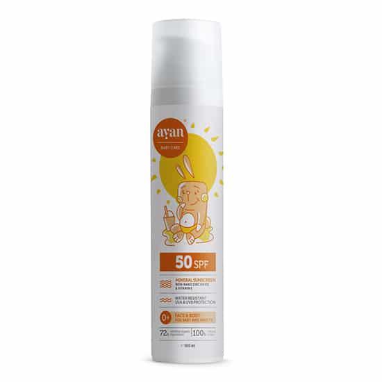 Бебешка слънцезащита SPF50 – AYAN