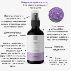 Натурален есенциален спрей с био етерично масло от лавандула - BUL INNOVATION