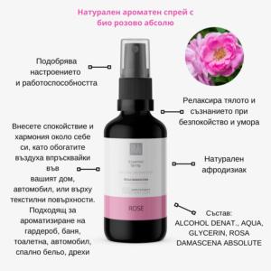Натурален есенциален спрей с био розово абсолю - BUL INNOVATION