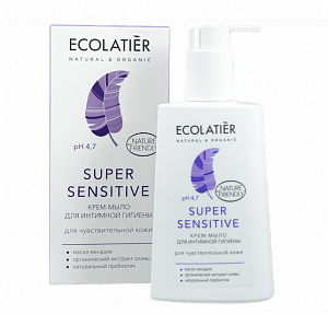 Интимен кремообразен сапун Super Sensitive - ECOLATIER