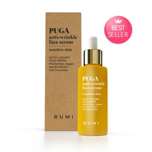 Нощен серум против бръчки за озарена кожа PUGA – Rumi