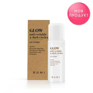 Околоочен крем против бръчки и тъмни кръгове GLOW - Rumi