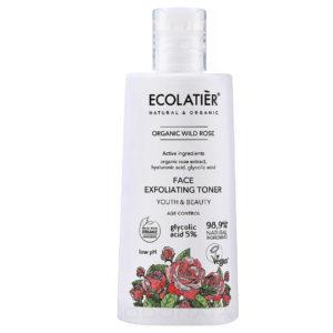 Ексфолиращ тоник за лице 5% Glycolic acid - Wild Rose Centofolia - ECOLATIER